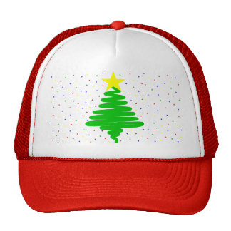 Gorra de béisbol del árbol de navidad