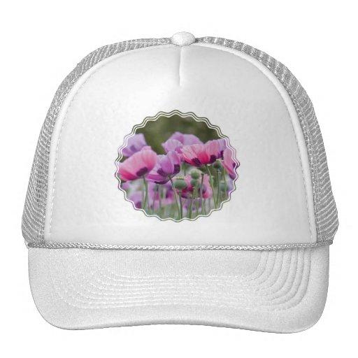 Gorra de béisbol del campo de la amapola