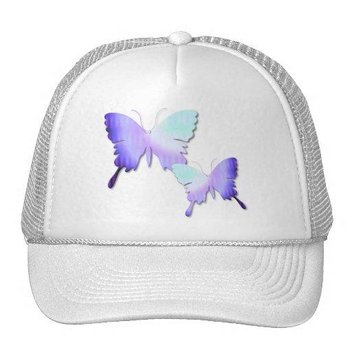 Gorra de béisbol del diseño de la mariposa