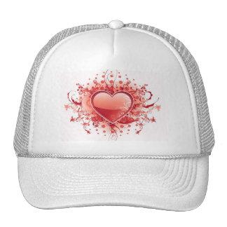 Gorra de béisbol del diseño del corazón de Emo