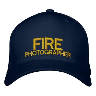 Gorra de béisbol del fotógrafo del fuego