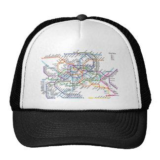 Gorra de béisbol del mapa del metro de Seul