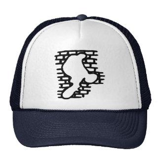 Gorra de béisbol del paseo de la pared