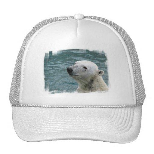 Gorra de béisbol del perfil del oso polar