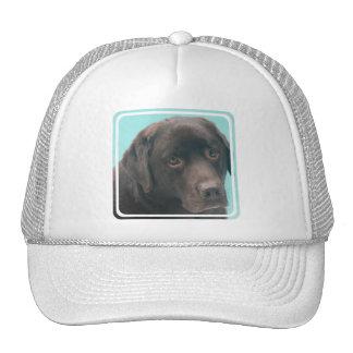Gorra de béisbol del perro del laboratorio del cho