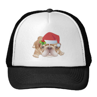 Gorra de béisbol del regalo del perro del navidad