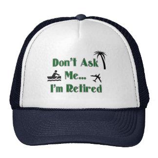 Gorra de béisbol del RETIRO