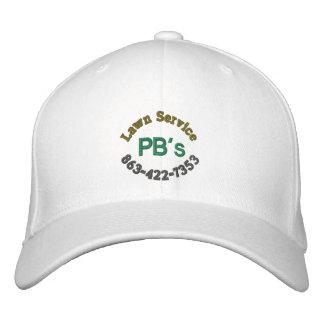 """""""Gorra de béisbol del servicio del césped del PB"""" Gorra De Béisbol"""