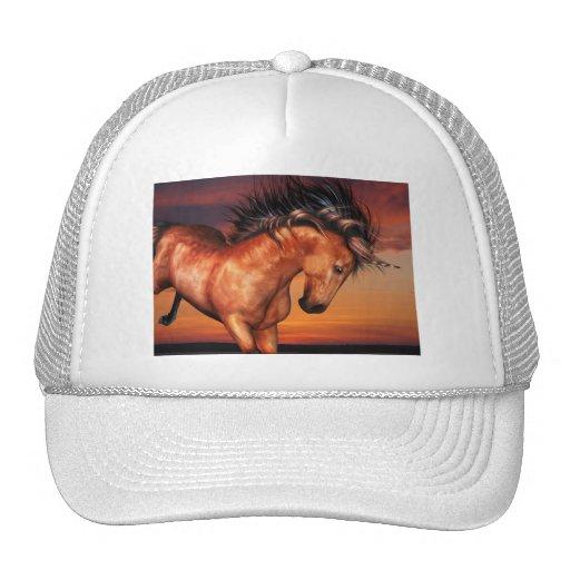 Gorra de béisbol del unicornio de la castaña