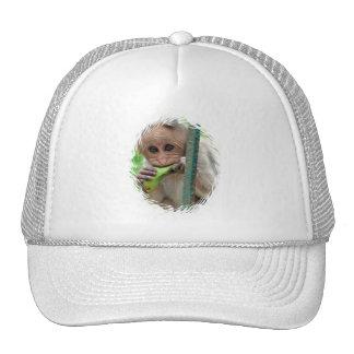 Gorra de béisbol divertida de la imagen del mono