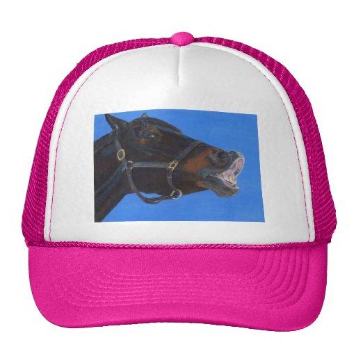 Gorra de béisbol divertido del caballo de la cara