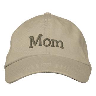 Gorra de béisbol/gorra bordados mamá de color caqu gorro bordado