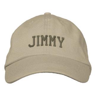 Gorra de béisbol/gorra bordados nombre de Jimmy