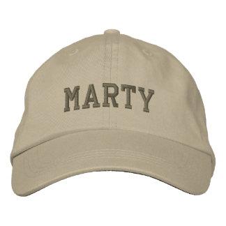 Gorra de béisbol/gorra bordados nombre de Marty Gorra De Béisbol