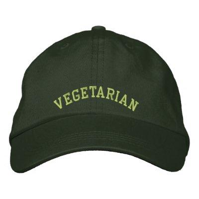Gorra de béisbol/gorra vegetarianos bordados