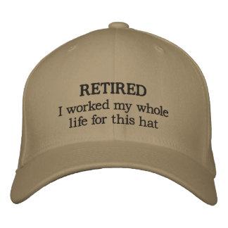 Gorra de béisbol jubilada