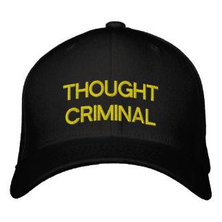 Gorra de béisbol negra criminal pensada