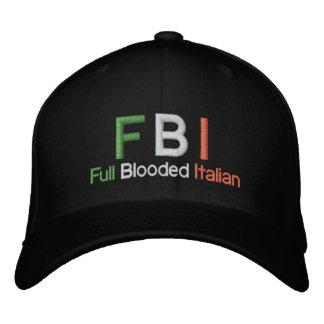 Gorra de béisbol negra italiana llena del FBI Bloo