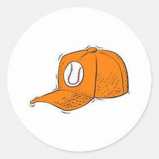 Gorra de béisbol pegatina redonda