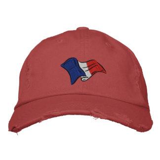 Gorra de béisbol retra llevada bandera francesa de