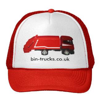gorra de béisbol roja del camión del compartimient