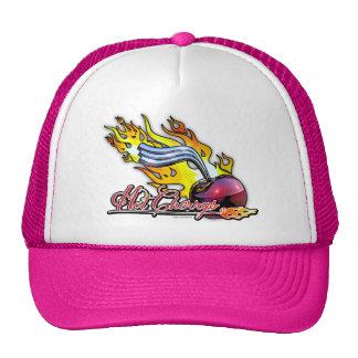 Gorra de béisbol rosada caliente de Cherrys