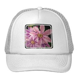 Gorra de béisbol rosado del Clematis