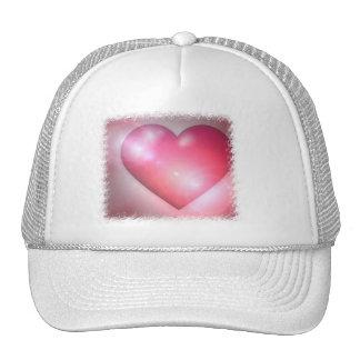 Gorra de béisbol rosado del diseño del corazón