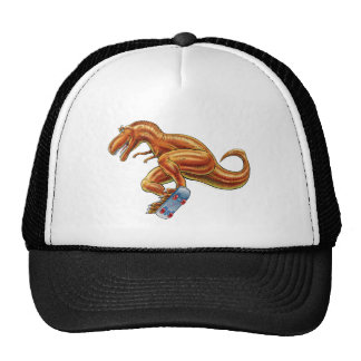 Gorra de béisbol T-rex en el monopatín