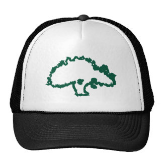 Gorra de béisbol verde abstracta del roble