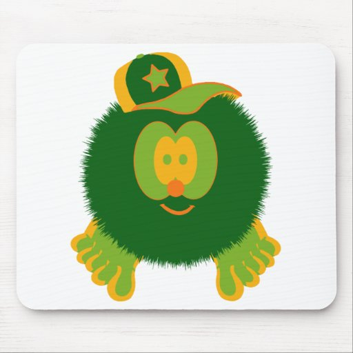 Gorra de béisbol verde anaranjada Mousepad