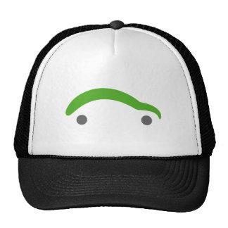 Gorra de béisbol verde simple del coche