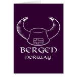 Gorra de Bergen Noruega Viking Felicitación