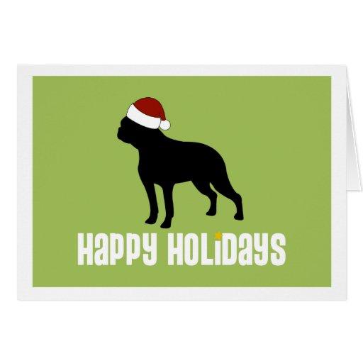 Gorra de Boston Terrier Santa Felicitacion