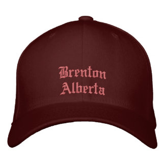 Gorra de Brenton Alberta Canadá Gorro Bordado