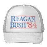 Gorra de campaña apenado de Reagan Bush '84