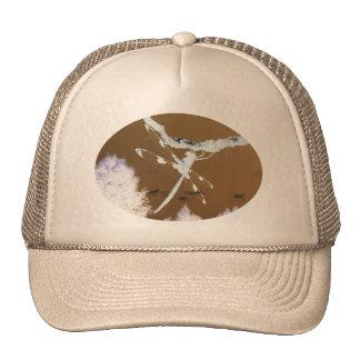 Gorra de color caqui del camionero de la libélula