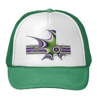 gorra De color de malva-verde de los fractales