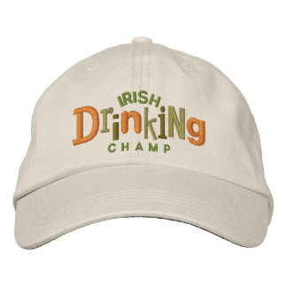 Gorra de consumición irlandés del bordado del gorra de béisbol bordada