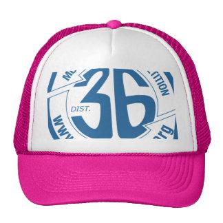 Gorra de corrimiento lleno rosado del camionero