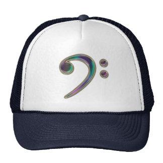 Gorra de cristal colorido de la música del Clef