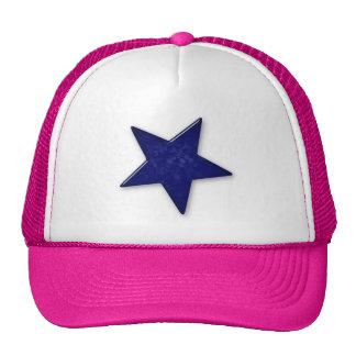 Gorra de cristal florecido azul de la estrella
