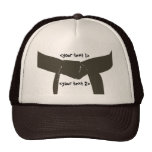 Gorra de encargo de la correa de Brown de los arte