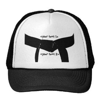 Gorra de encargo de la correa negra de los artes m