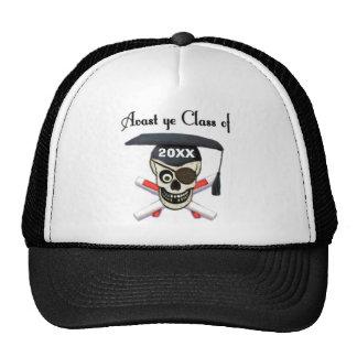 Gorra de encargo del año del pirata de la graduaci