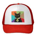 Gorra de encargo del gato del negocio