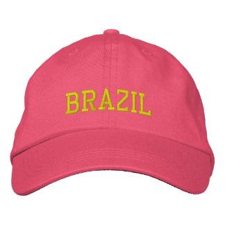 Gorra de encargo femenino del Brasil Gorra De Béisbol Bordada