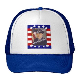 Gorra de encargo patriótico de la foto de las barr