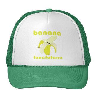 Gorra de Fanafofana del plátano de Kawaii