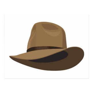 Gorra de Fedora arbusto Postales